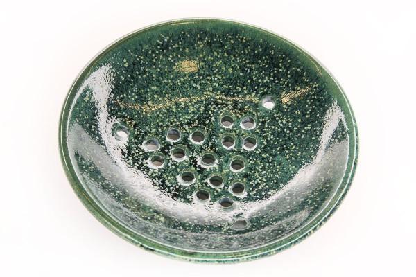 Seifenschale getöpfert - Magic Green