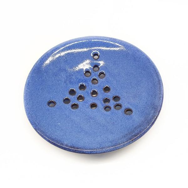 Seifenschale getöpfert - blau